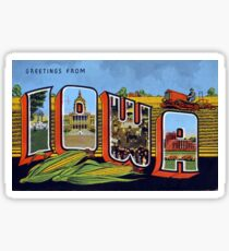 Vintage Greetings from Iowa Corn State Sticker