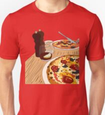 Yummy Pizza Time! Unisex T-Shirt