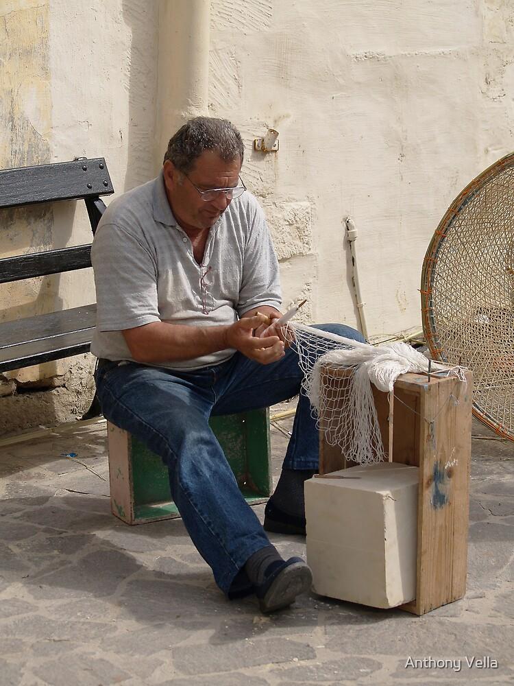 Fishing-net maker. by Anthony Vella