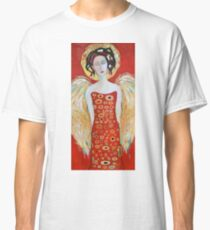 Guardian Angel Red White Christmas Angel Wings Decor for Wall Gift Classic T-Shirt