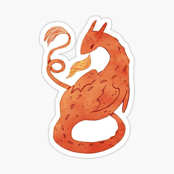 Orange Dragon  Sticker