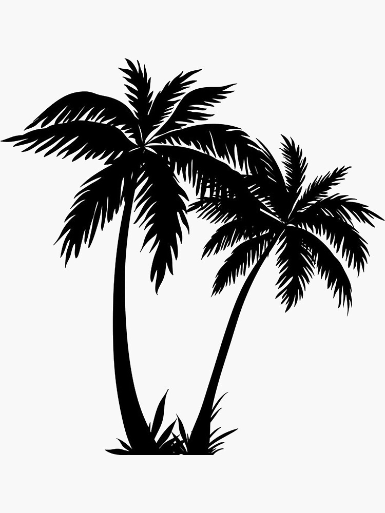 Black Palm Tree Sticker by livpaigedesigns