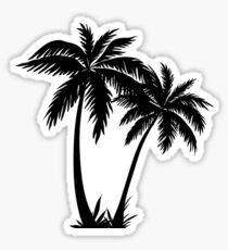 Black Palm Tree Sticker Sticker