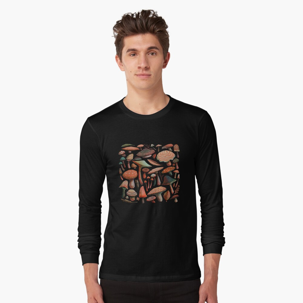 Mushroom Picking Long Sleeve T-Shirt