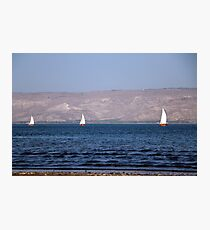 Sailing boats on the water Photographic Print