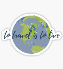 Pegatina Viajar es vivir