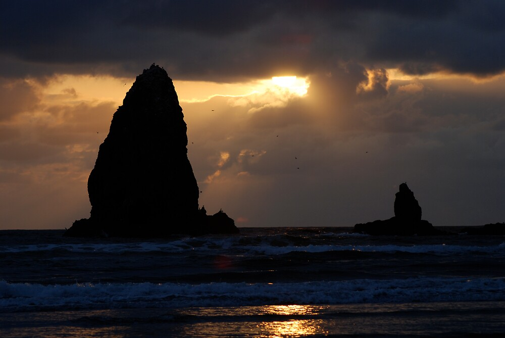 Cannon Beach Oregon by Robert Baker