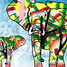Colorful Elephant  by Juhan Rodrik