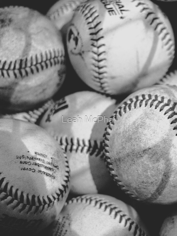 Baseballs in Black and White  by LeahMcPhail