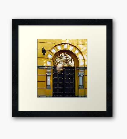 Door to holly place Framed Print