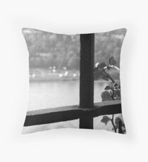 View of the Mosel Throw Pillow