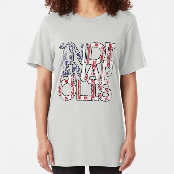 US Flag City - Indianapolis Slim Fit T-Shirt