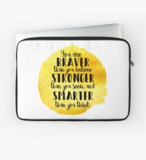 Braver than you think Laptop Sleeve