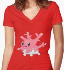 Corsola Women's Fitted V-Neck T-Shirt