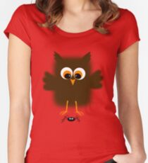 Owl-rachnophobia Women's Fitted Scoop T-Shirt