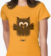 Owl-rachnophobia Women's Fitted T-Shirt