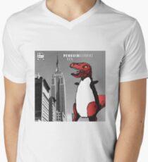 PENGUINOSARUS REX™ INVADES NEW YORK Men's V-Neck T-Shirt