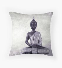 Buddha - JUSTART © Throw Pillow