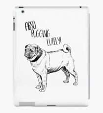 Cool Vintage Funny Pug Graphic iPad Case/Skin