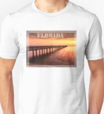 Sunset/sundusk over harbor T-Shirt