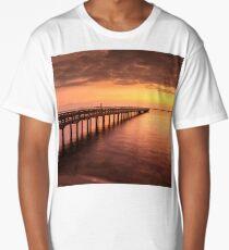 Sunset/sundusk over harbor Long T-Shirt