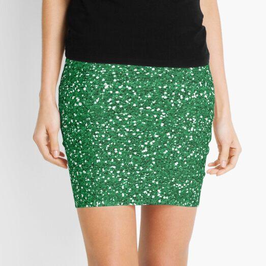 Green Glitter  Mini Skirt