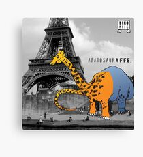 APATOSAURAFFE™ VISITS PARIS Canvas Print