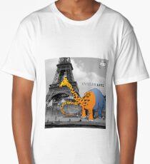 APATOSAURAFFE™ VISITS PARIS Long T-Shirt