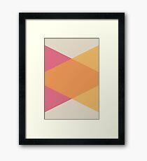 Mid Century Vintage Geometric Pattern Framed Print