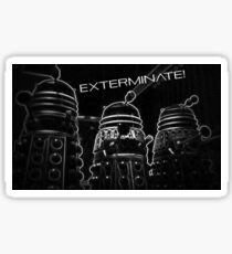 Daleks - Black Sticker