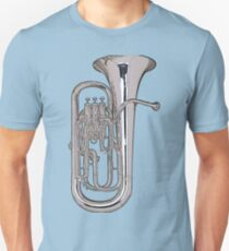 Big Silver Euphonium T-Shirt