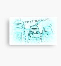 Daleks - Negative Canvas Print