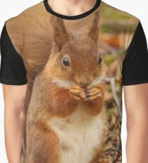 Little Tame Red Squirrel Graphic T-Shirt
