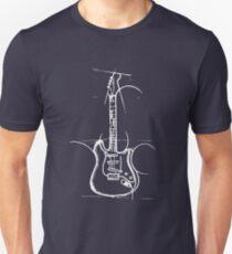 white bass guitar Unisex T-Shirt