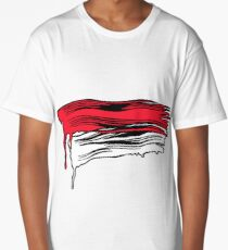 Lichtenstein Brush Strokes: Red Long T-Shirt