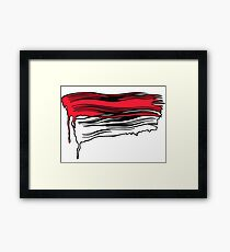 Lichtenstein Brush Strokes: Red Framed Print