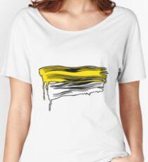 Lichtenstein Brush Strokes: Yellow Women's Relaxed Fit T-Shirt
