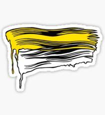 Lichtenstein Brush Strokes: Yellow Sticker