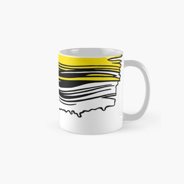 Lichtenstein Brush Strokes: Yellow Classic Mug