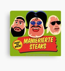 Manierierte Steaks Canvas Print
