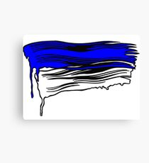 Lichtenstein Brush Strokes: Klein Blue Canvas Print
