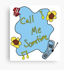 911/Mr. Lonely CALL ME SOMETIME Canvas Print
