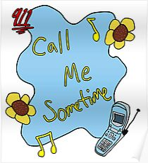 911/Mr. Lonely CALL ME SOMETIME Poster