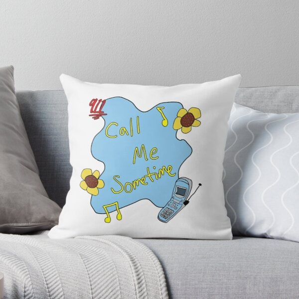 911/Mr. Lonely CALL ME SOMETIME Throw Pillow
