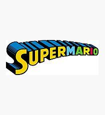 Super Mario Photographic Print