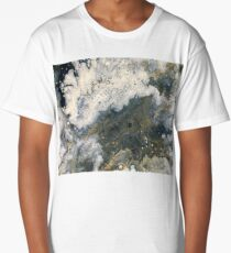 Acrylic Pour Turned Vector 2 Long T-Shirt