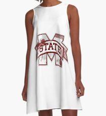 Mississippi State Tye-Dye A-Line Dress