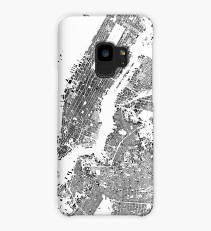 New York Map Schwarzplan Only Buildings Urban Plan Case/Skin for Samsung Galaxy