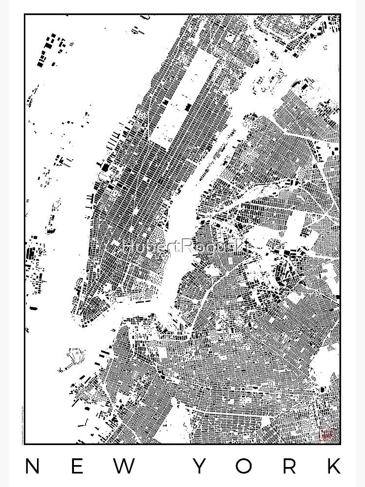 New York Map Schwarzplan Only Buildings Urban Plan by HubertRoguski