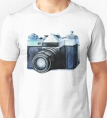Watercolor vintage SLR camera Unisex T-Shirt